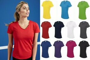V-Neck T-Shirt  Polyester gym/sports/running tee Women's Ladies AWDis Just Cool