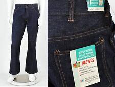 Deadstock 1960s Vintage Sanforized Cotton Jeans Flare Bell Bottoms K Mart 34x30