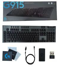 Logitech G915 teclado para juegos mecánico Clicky RGB Inalámbrico Negro 920-009103