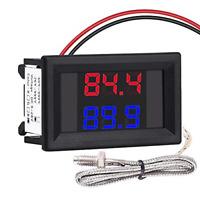 PEMENOL Dual Digital Thermocouple Thermometer LED Display Industrial Temperature