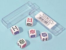 Poker Dice 5 Dice With Instruction Rules Included In Plastic Box