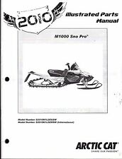 2010 ARCTIC CAT SNOWMOBILE M1000 SNO PRO  PARTS MANUAL P/N 2258-652  (740)