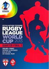 RUGBY LEAGUE WORLD CUP 2013 QUARTER FINAL ENGLAND v FRANCE MINT PROGRAMME