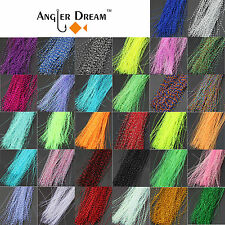 31 bags Fly Tying Material Crystal Flash Holographic Fishing Lure Tying Making