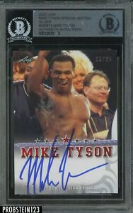 Mike Tyson Signed 2020 Leaf Boxing Special Edition Silver AUTO 23/25 BGS BAS