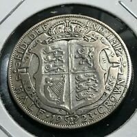 1923 GREAT BRITAIN SILVER 1/2 CROWN NICE COIN