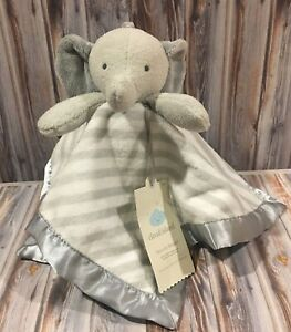 Gray Elephant Security Blanket Cloud Island Lovey Striped