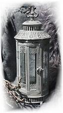 XL Laterne grau weiß Metall Garten-deko Shabby chic Vintage Landhaus Romantik