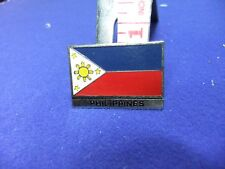 vtg tin badge national flag philippines gum comic cereal premium 1960s 70s