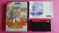 TOM and JERRY The Movie / jeu en boite + notice TBE / MASTER SYSTEM SEGA / PAL