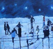 Hockey Night in Canada,  16x20, Oil,  Darlene Young Canadian Artist