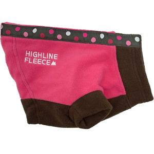 Highline Fleece Dog Coat Pink & Brown Polka Dots  Little to Big Dog Sizes 8-28