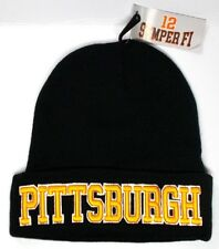 Pittsburgh Steelers Team Color 3D Direct Embroidered Beanie Knit Cap hat!