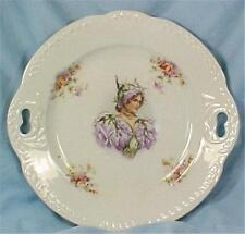 Victorian Violet Fairy Lady Cake Cookie Plate Whiteware Porcelain Antique Beauty