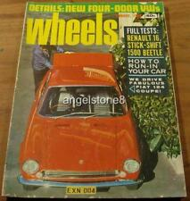 1968.Wheels.RAMBLER REBLE 770.VW 1500. MINI MOKE.Renault R16.COLT.AMPHIBIAN CARS