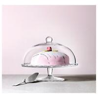 IKEA Tortenhalter Küchenhalter Platte auf Fuß mit Abdeckung, Klarglas 29 cm