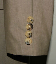 Hugo Boss The James/Sharp 2 Beige Super 130's Wool Sport Coat Blazer 42L
