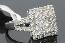 10K SOLID WHITE GOLD 2 CARAT REAL DIAMOND WOMEN BRIDAL WEDDING ENGAGEMENT RING