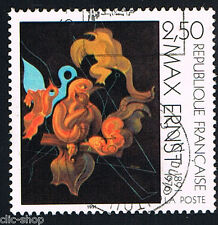 1 FRANCOBOLLO FRANCIA OPERE D'ARTE MAXERNST 1991 usato