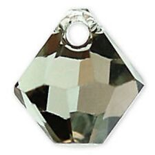 Swarovski Crystal TopDrill Bicone BlkDiamond Color6mm. Approx. 24 PCS. 6328-6301