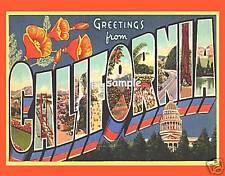 CALIFORNIA - Travel Souvenir Flexible Fridge Magnet