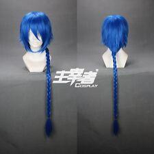 Magi Aladdin Blue 100cm Braid Anime Costume Cosplay Wig +Free CAP