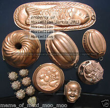 CHEF & FOOD WRITER MR JAMES BEARD COPPER MOLD SET (AS FEAT.1979 BON APPETIT)