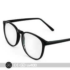 Black P-3 Ivy League Look Professional Clear Glasses Vintage Round S062