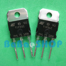 1pair ( TIP36C + TIP35C ) Silicon High Power NPN PNP Transistor ST TO-218