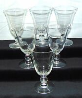 """6 Imperial CANDLEWICK CRYSTAL *4 3/4"""" - 5 oz FOOTED JUICE TUMBLERS *3400"""