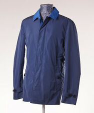 NWT $795 BURBERRY BRIT 'Kentbury' Blue Water-Repellent Trench Coat L (42) Jacket