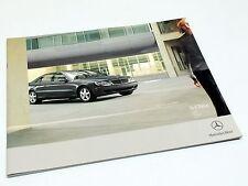 2005 Mercedes-Benz S 430 S 500 S 55 AMG S 600 4MATIC Designo W220 Brochure