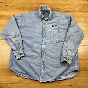 Pepsi Edge Button Down XL Shirt Denim Sierra Pacific Blues