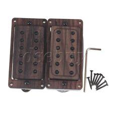 2pcs Rose Wood Neck Bridge 50/52mm Electric Guitar Humbucker Pickups