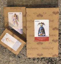Jim Shore Heartwood Creek Angel Bundle 2 Figurines & Ornament - Christmas Enesco