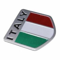 Alloy Car Badge Emblem Decal Sticker Bumper Sticker For Italian flag 5x5cm T6V1