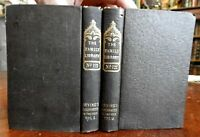 Oliver Goldsmith 1840 Washington Irving 2 vol. set Harpers engraved portrait