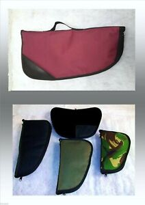 """PISTOL SLEEVE /SOFT PADDED CASE / RUG 9""""-19"""" / 5 SIZES - BACSEW  6 COLOURS"""
