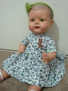"19"" Pedigree composition vintage toddler doll, molded hair"