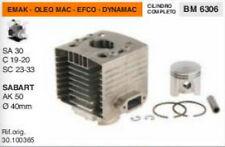 CILINDRO E PISTONE MOTORE OLEO MAC EFCO SA 30 C19 C20 SC23 SC33 SABART AK50 D40