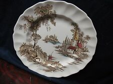 JOHNSON  BROS.  THE  OLD  MILL  GENUINE HAND ENGRAVING PLATE  10''  PRISTINE
