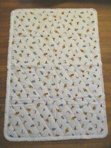 "Vintage Walt Disney Winnie the Pooh Collection Sears Baby Quilt Blanket 36"" x50"""
