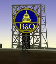 MILLER ENGINEERING B&O NEON SIGN KIT N/Z SCALE train railroad lionel # 33-9060
