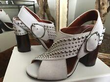 3.1 Phillip Lim Patsy Women's Studded White Leather Block Heel 39/9M MSRP $795