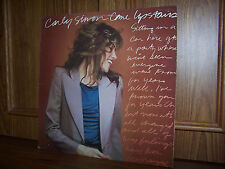 Carly Simon Come Upstairs LP Warner Bros XBS 3443 1980 Canada Import EX/EX