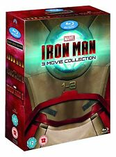 "IRON MAN COMPLETE MOVIE COLLECTION 1- 3 MARVEL 3 DISCS BLU-RAY REG B ""NEW"""