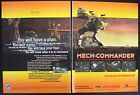 45Mech Commander video game - rare print AD published in a 1998 Magazine.