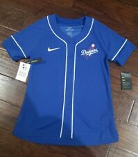 NIKE WOMENS MLB LOS ANGELES DODGERS RUSH BLUE JERSEY Size Small Blue