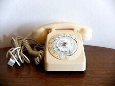 VINTAGE TELEPHONE SOCOTEL S63 IVOIRE A CADRAN 1981