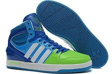 Men's Adidas Court Attitude Originals BLUE Green Trainers Q99390 US Size 11 NIB